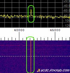 VLF segnale di 41.5 kHz