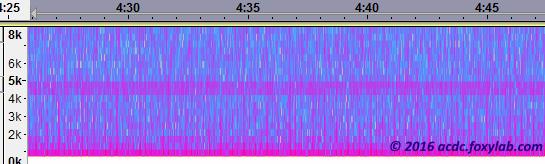 spettrogramma in Audacity