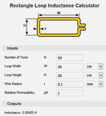 EEWeb calcolatrice induttanza
