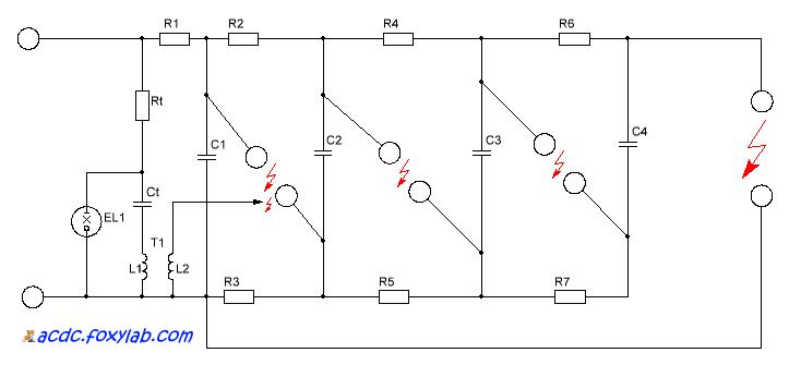 схема генератора Маркса