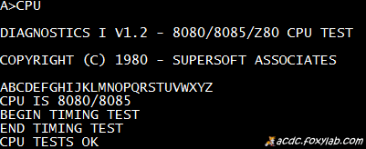 SUPERSOFT CPU TEST